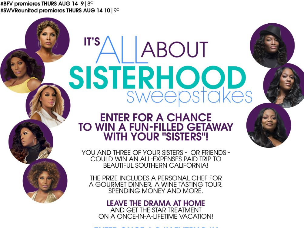 WEtv It's All About Sisterhood Sweepstakes
