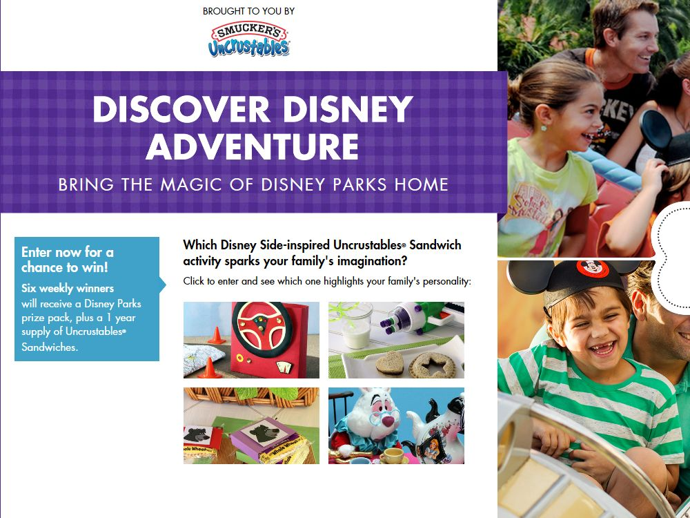 Smuckers Discover Disney Adventure Promotion