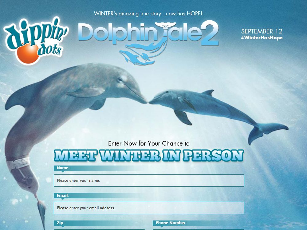Dippin' Dots Dolphin Tale 2 Sweepstakes