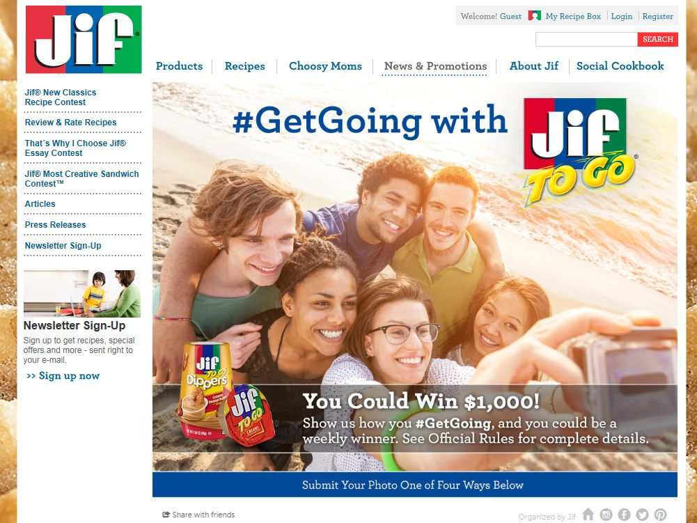 Jif To Go Get Going Photo Promotion
