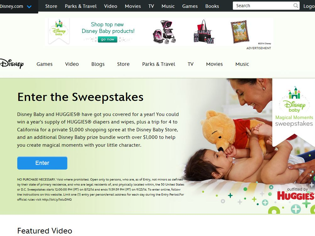Disney.com Magical Moments Sweepstakes
