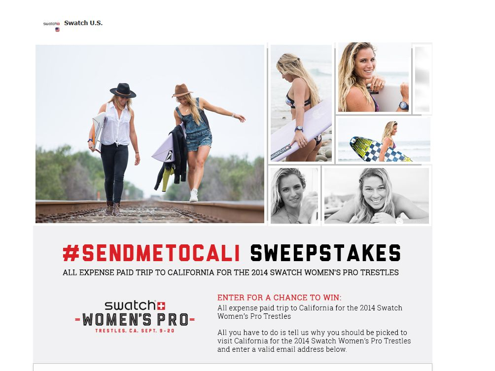 "The Swatch U.S. ""Send Me to Cali"" Sweepstakes"
