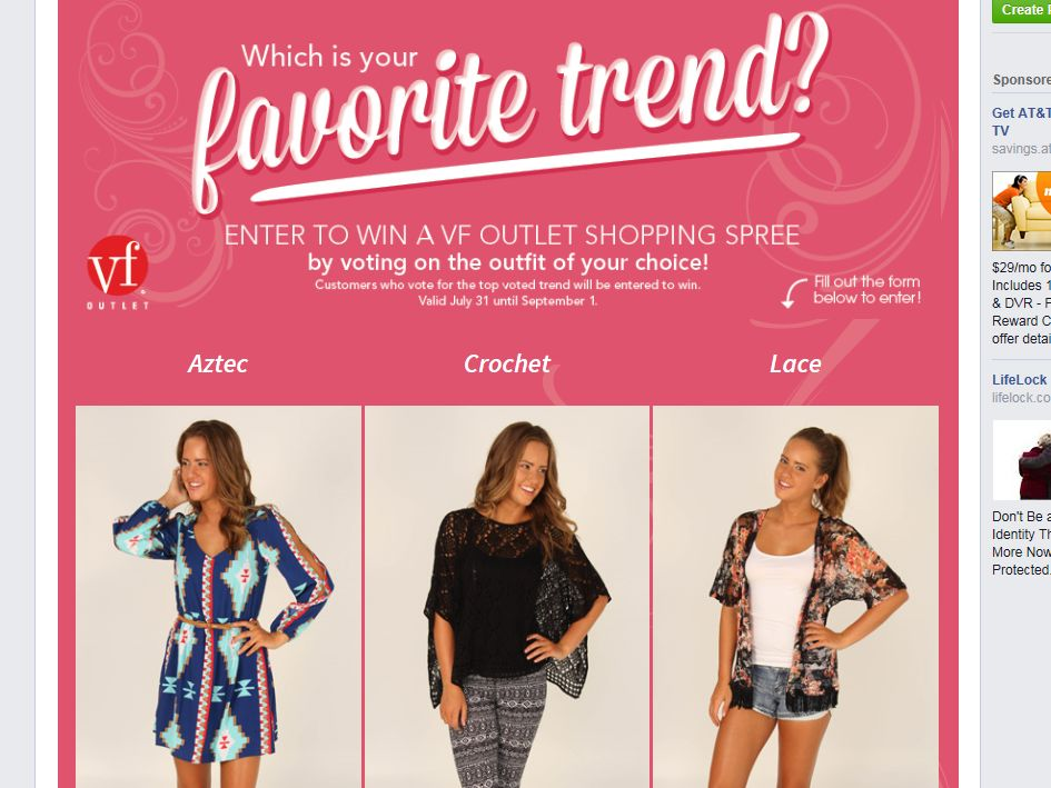 VF Outlet Junior Trends Sweepstakes