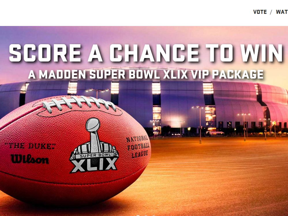 The Madden Super Bowl XLIX VIP Package Sweepstakes