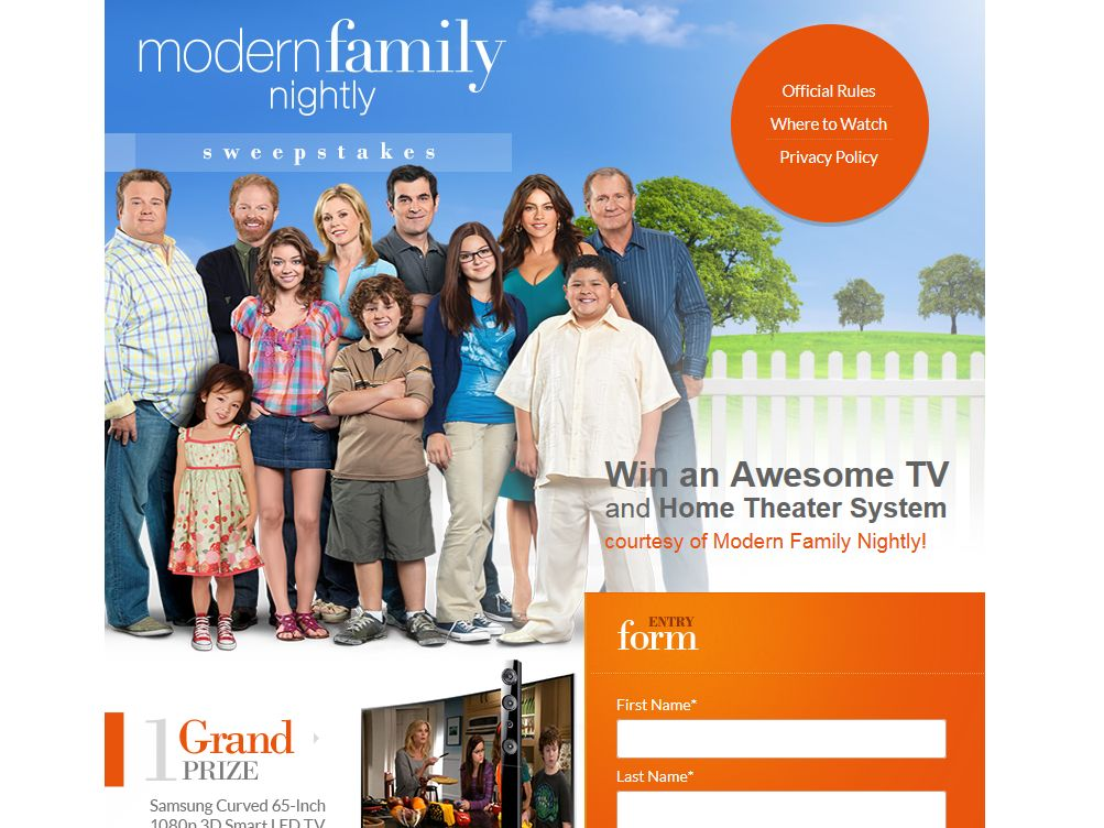 The Modern Family Nightly Sweepstakes