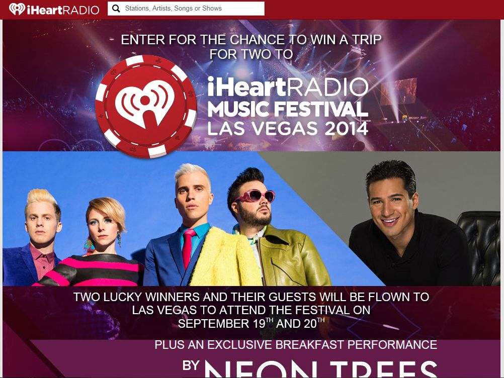 Taco Bell's iHeartRadio Music Festival Sweepstakes