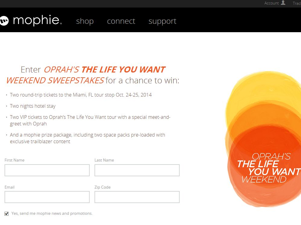 MOPHIE'S Ultimate Oprah Experience Sweepstakes
