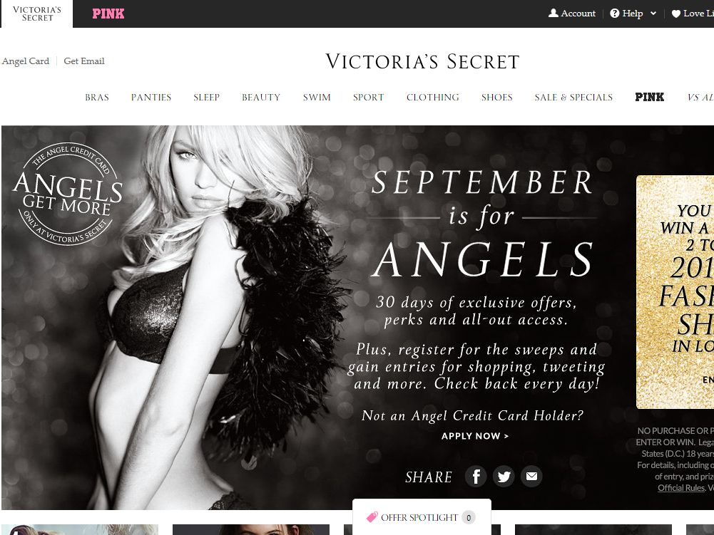 Victoria's Secret Angels Get More Sweepstakes