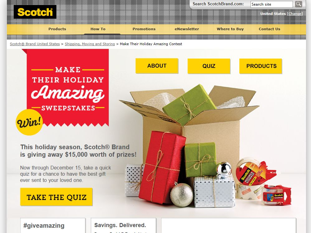 "Scotch Brand ""Make Their Holiday Amazing"" Sweepstakes"