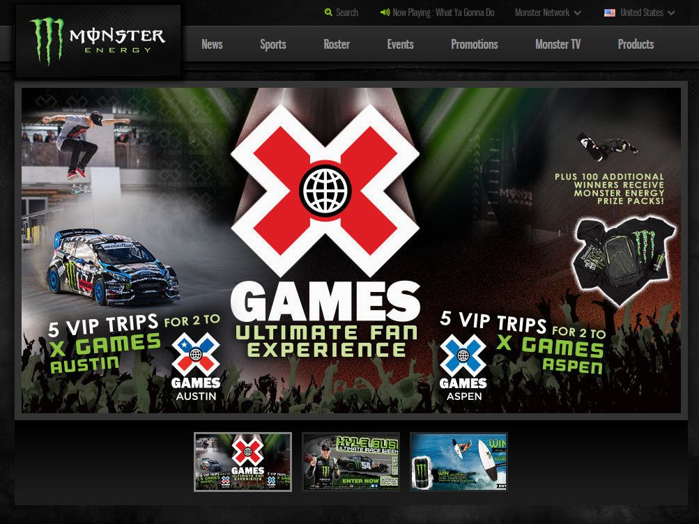 Monster EnergyX Games Ultimate Fan Experience Sweepstakes