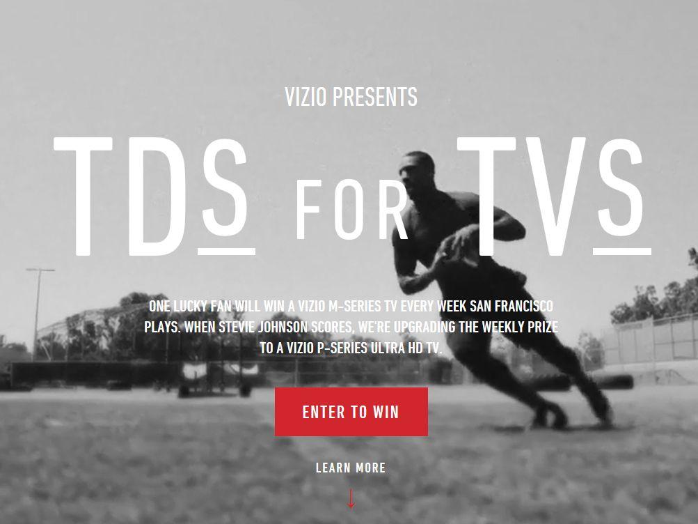 VIZIO Touchdowns For TVs Sweepstakes