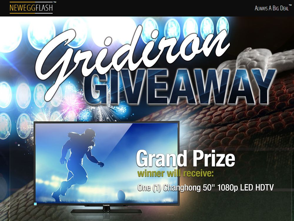 NEWEGG Flash Gridiron Giveaway Sweepstakes