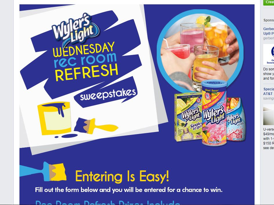 """Wyler's Light """"Rec Room Refresh"""" Sweepstakes"""