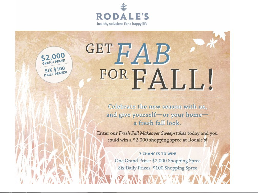 Rodale's Fresh Fall Makeover Sweepstakes
