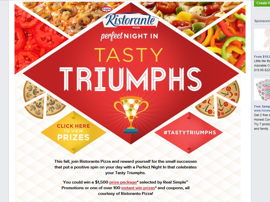 """Dr. Oetker Perfect Night In """"Tasty Triumphs"""" Sweepstakes"""