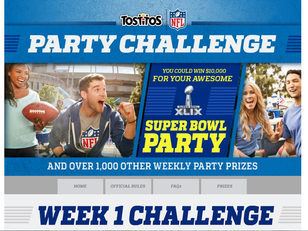 Tostitos Party Challenge Sweepstakes