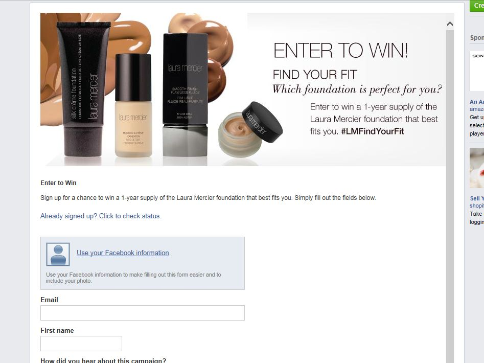 Laura Mercier Find Your Fit Sweepstakes