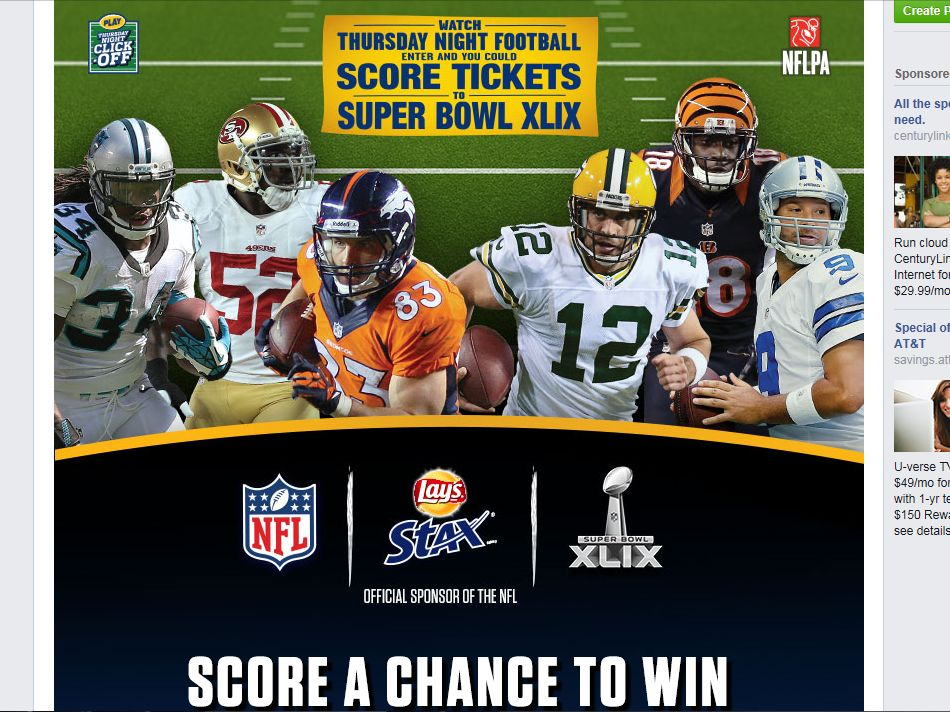 Lay's Stax Thursday Night Game Day Click-Off Promotion