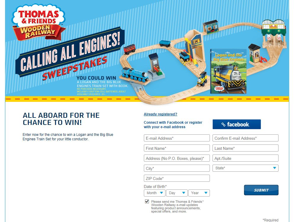 Calling All Engines! Sweepstakes