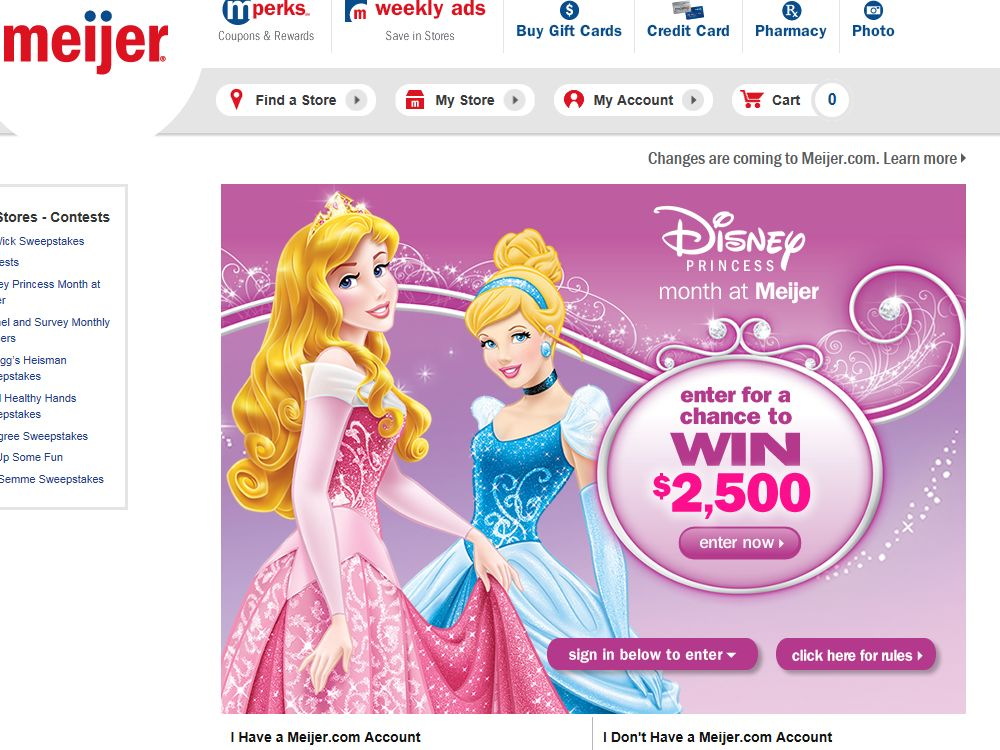The Disney Princess Month at Meijer Sweepstakes – Limited States