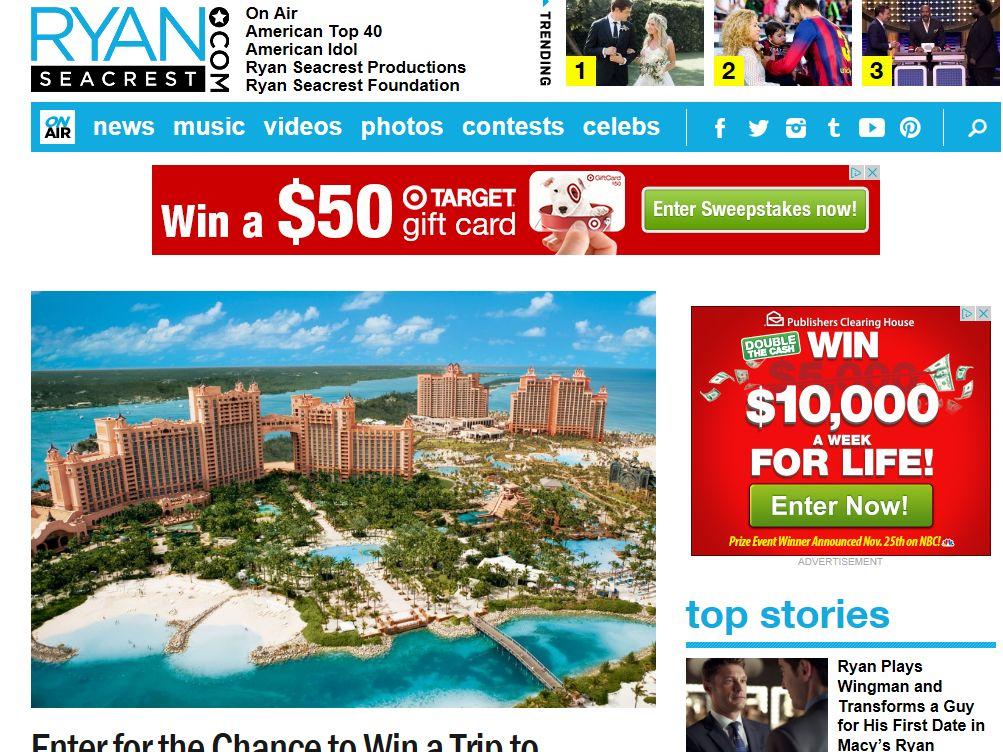 Ryan Seacrest's Atlantis Paradise Island Getaway