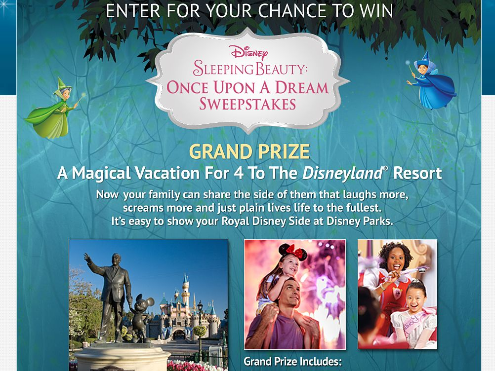 Disney Sleeping Beauty: Once Upon A Dream Sweepstakes