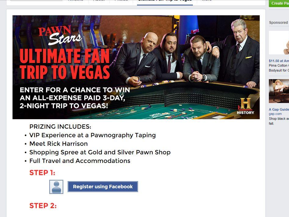 Pawn Stars Ultimate Vegas Sweepstakes