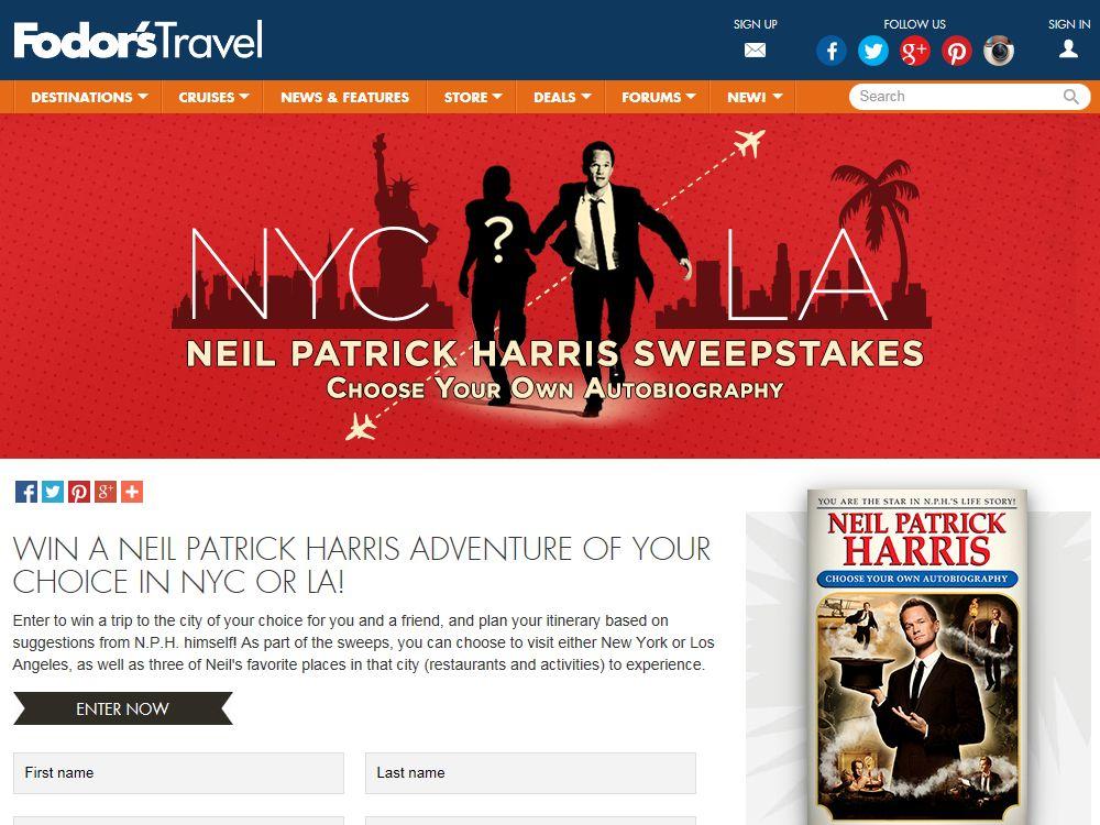 Neil Patrick Harris Sweepstakes