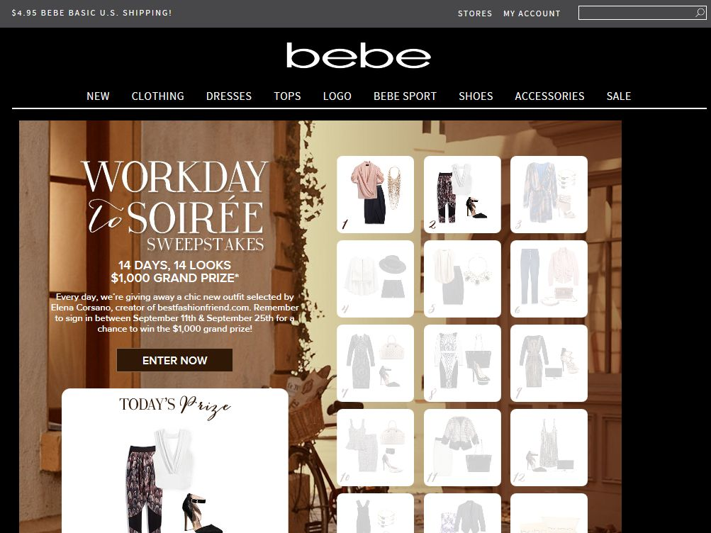 bebe Workday to Soiree Sweepstakes