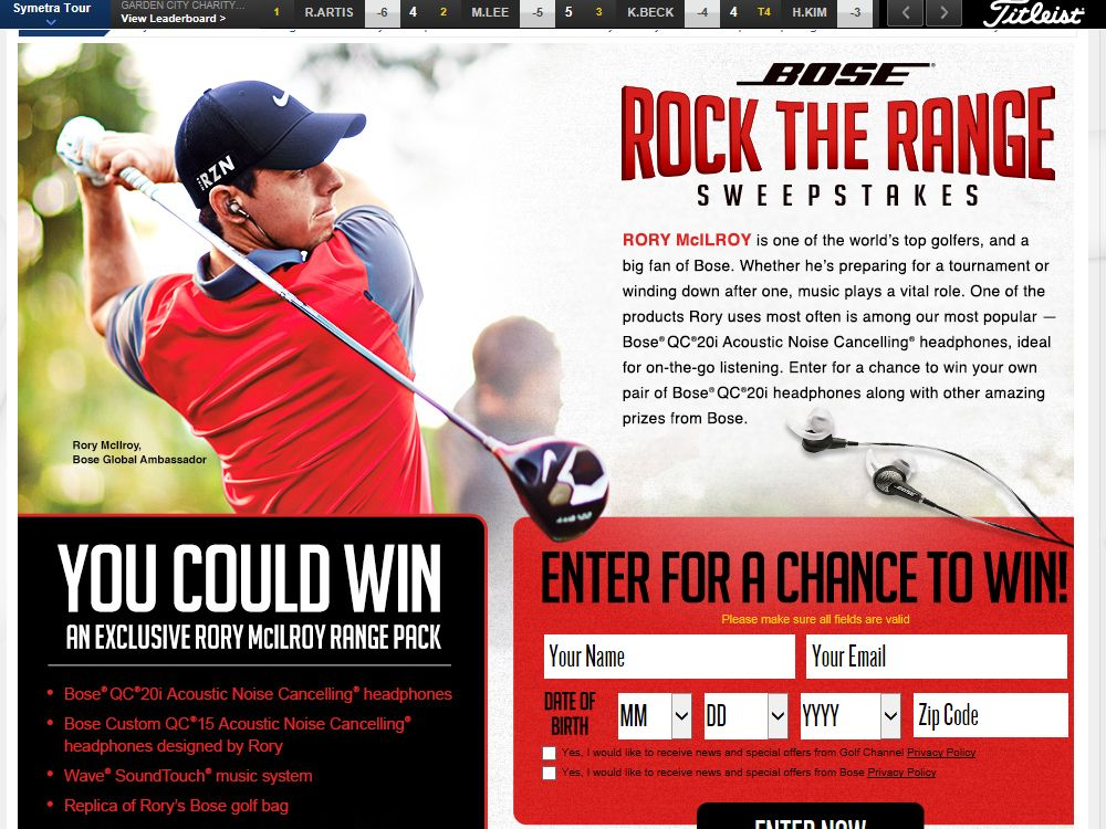 The BOSE Rock the Range Sweepstakes