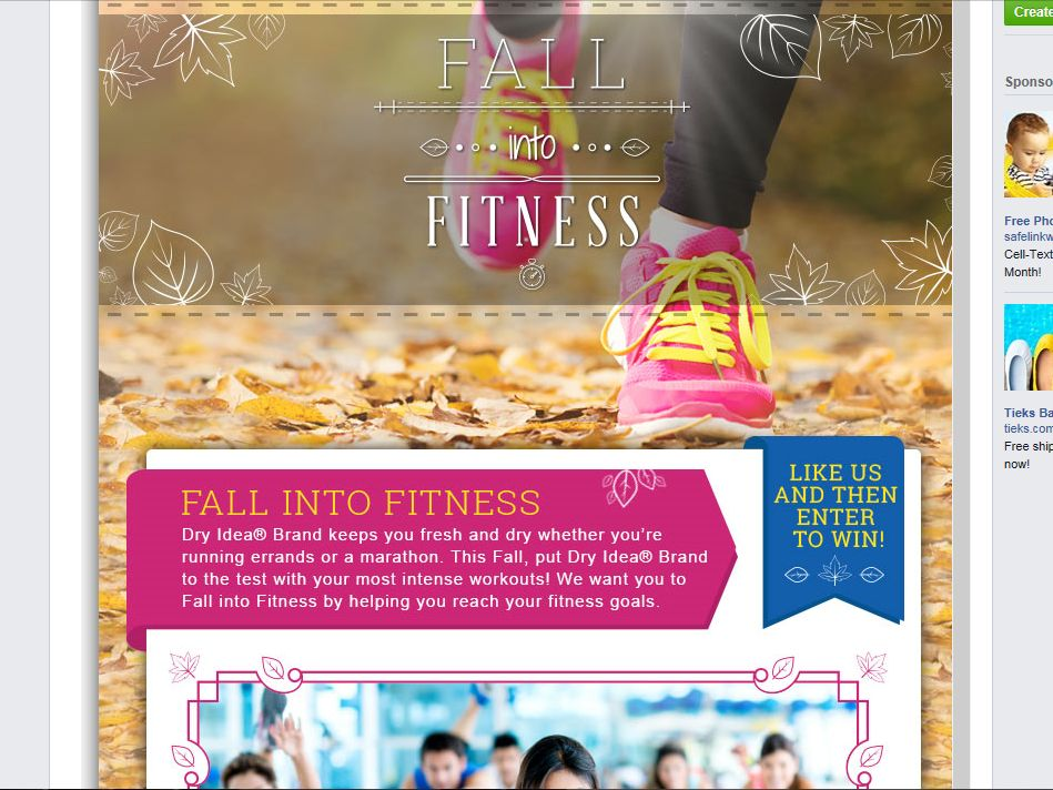 Dry Idea Fall into Fitness Promotion