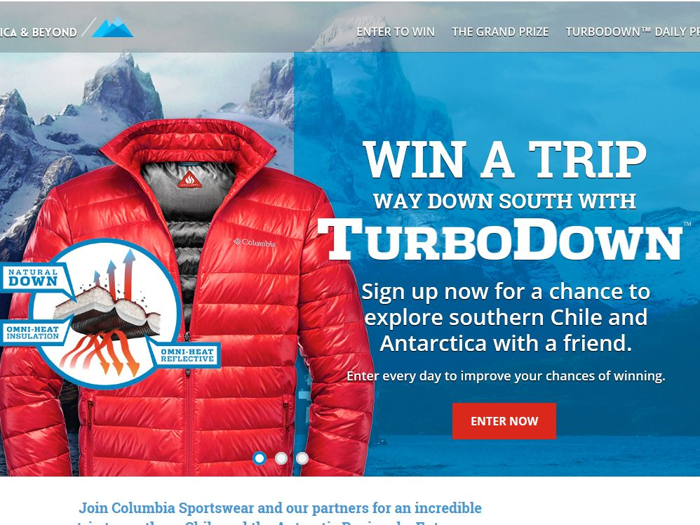 Columbia's TurboDown to South America & Beyond Sweepstakes