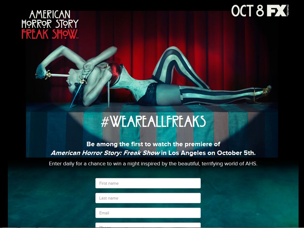 "FX Networks ""American Horror Story We Are All Freaks"" Sweepstakes"