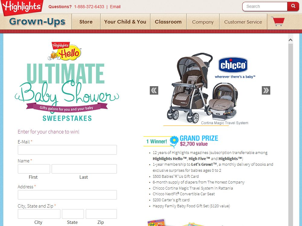 Highlights Hello Ultimate Baby Shower Sweepstakes