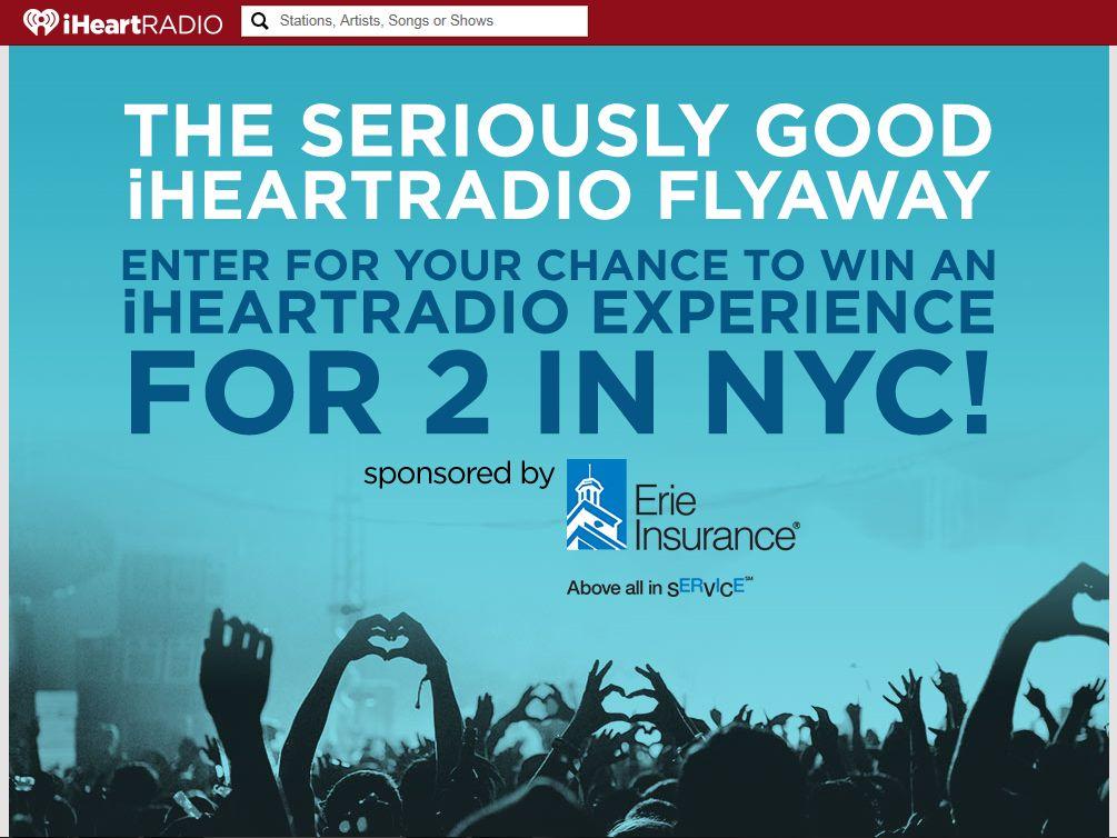 """The """"Seriously Good"""" iHeartRadio Flyaway Sweepstakes"""