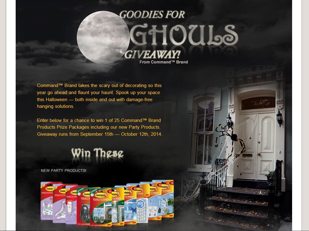 Command Goodies for Ghouls Giveaway