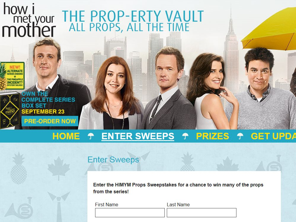 How I Met Your Mother Props Sweepstakes