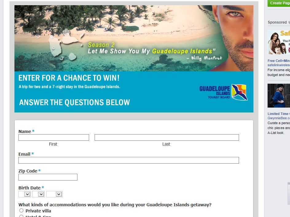 Guadeloupe Let Me Show You My Islands Sweepstakes