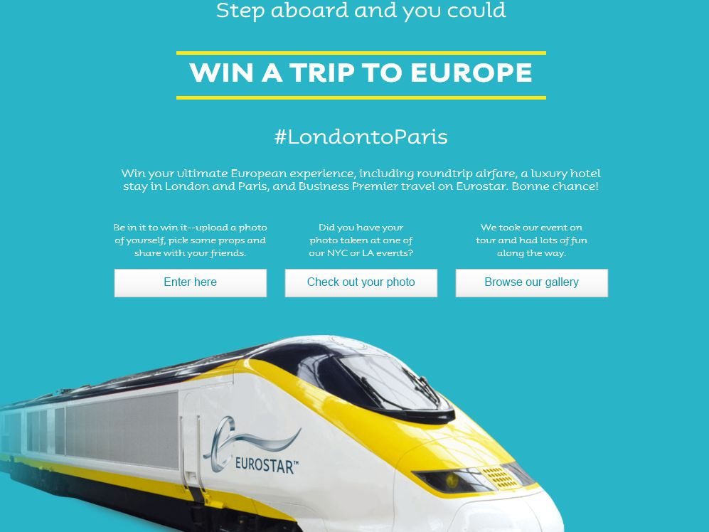 Eurostar 2 Cities 1 Day Sweepstakes