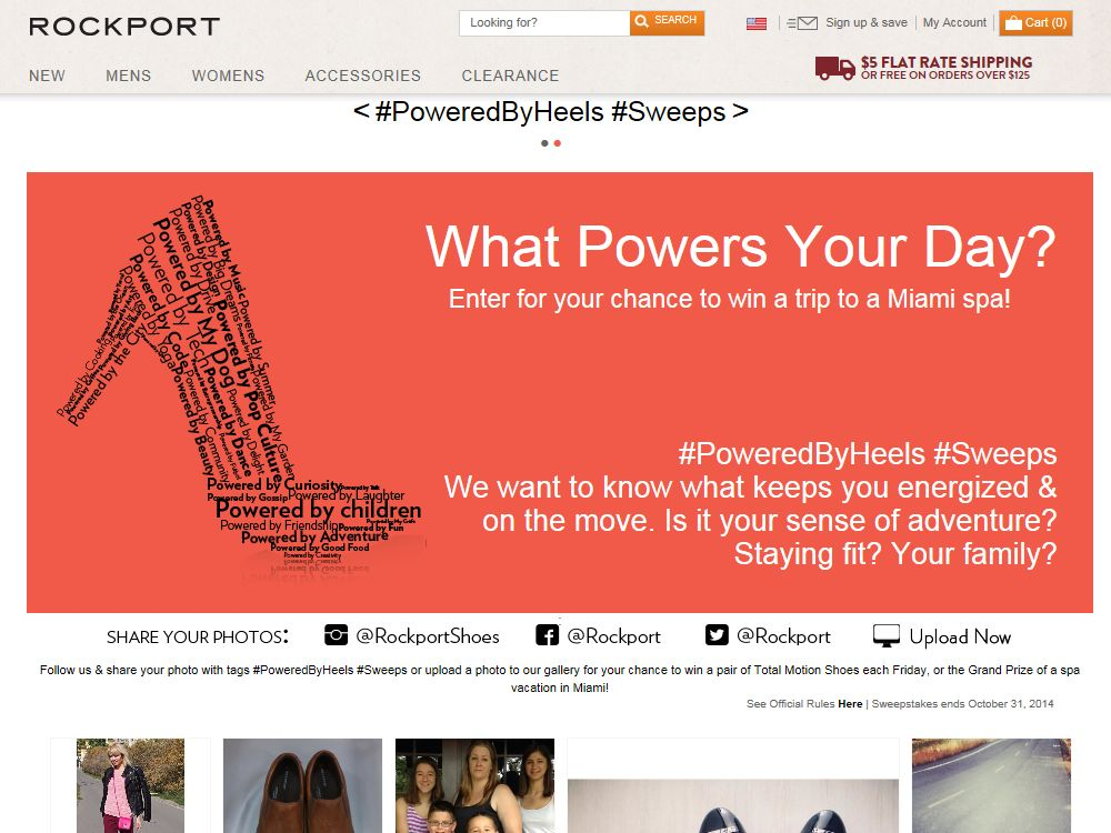 ROCKPORT Total Motion Powered by Heels Sweepstakes