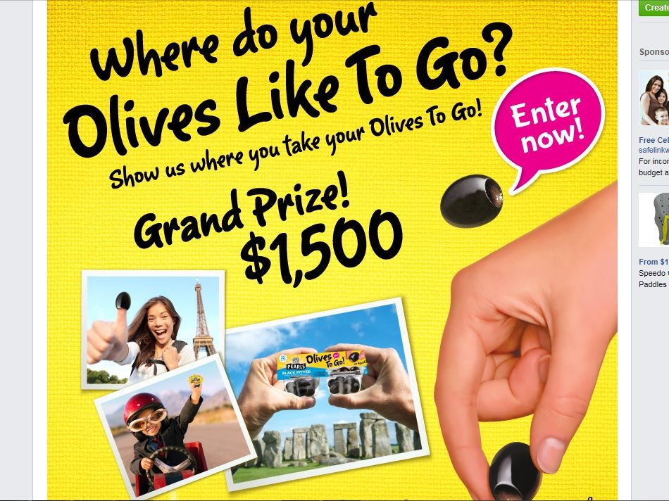 Musco Olives  Show Us Where Your Olives Like To Go! Sweepstakes