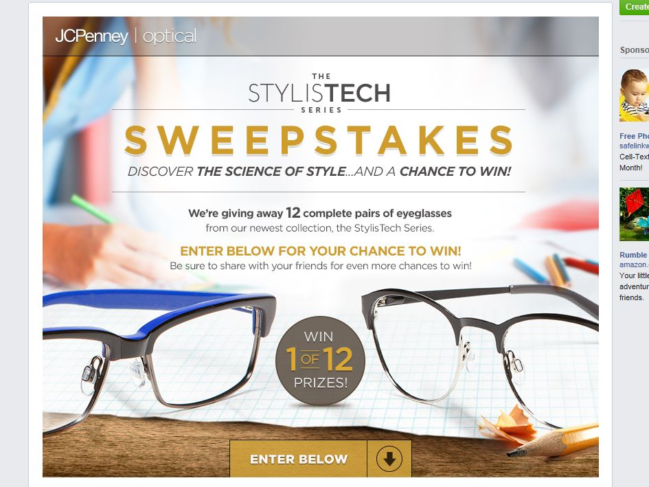 JCPenney Optical 2014 STYLISTECH Sweepstakes