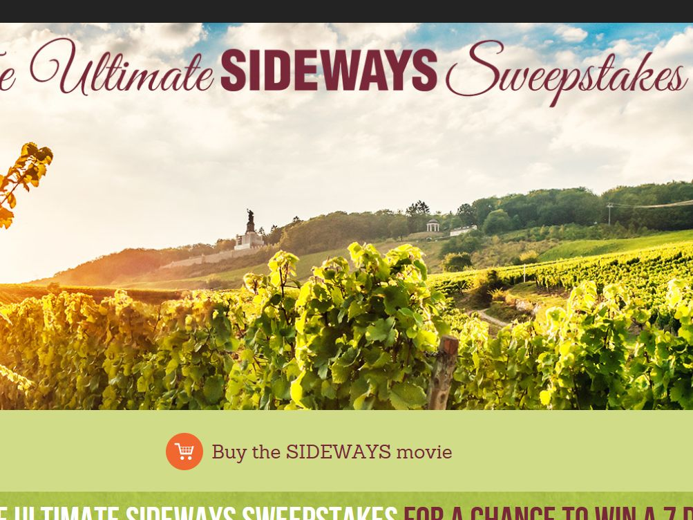 Fox Searchlight Pictures Ultimate Sideways Sweepstakes