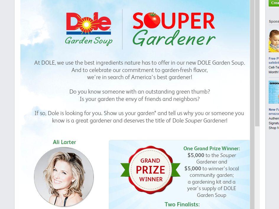 "DOLE Garden Soup ""Souper Gardener"" Contest"