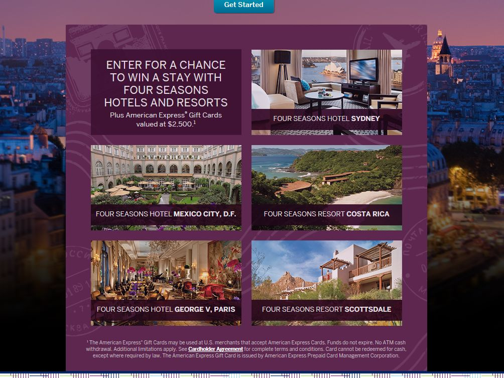 Fall 2014 American Express Travel Giveaway