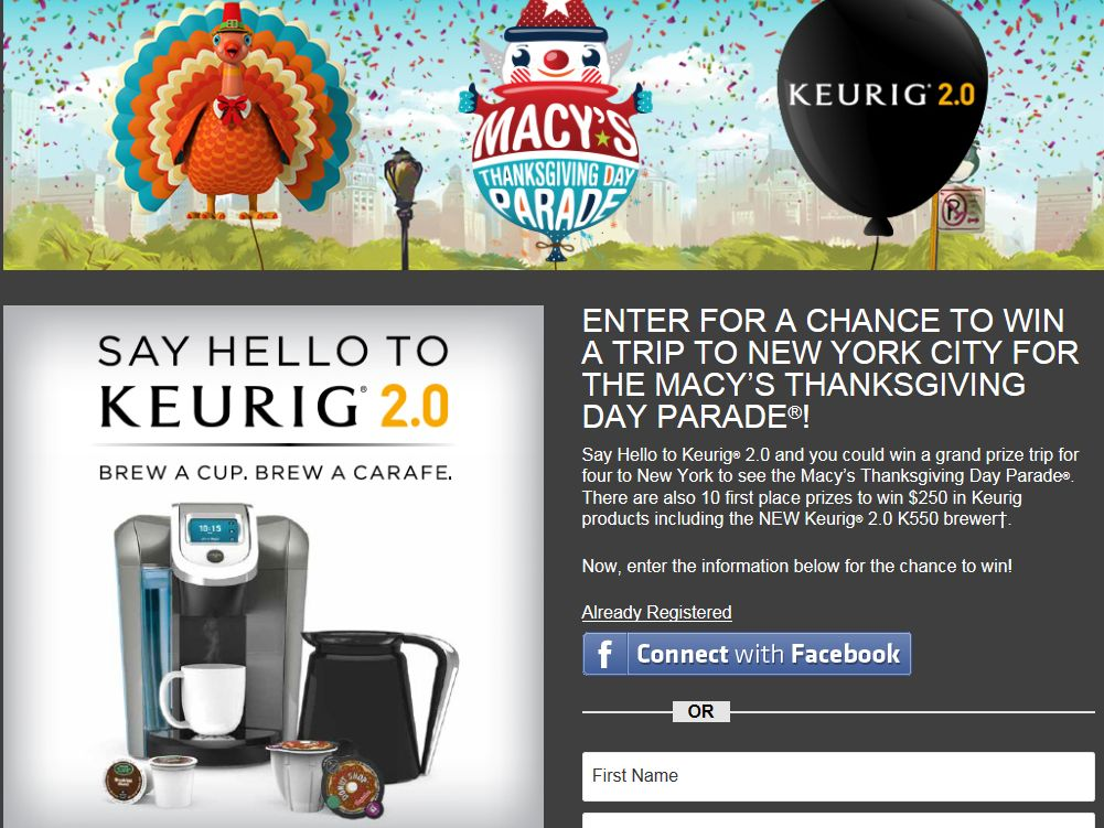 Macy's Thanksgiving Day Parade Sweepstakes