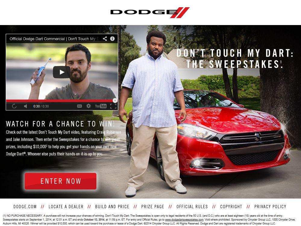 Dodge dart sweepstakes