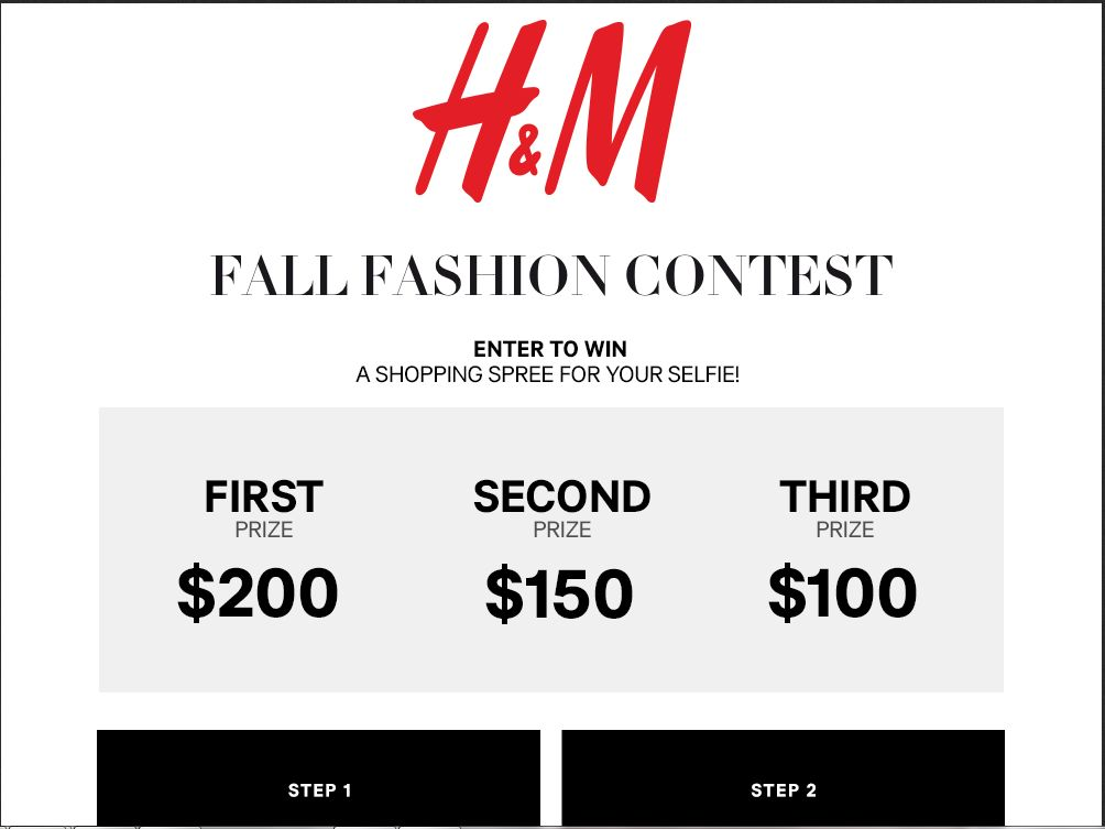 EXTRA H&M Fall Fashion Contest