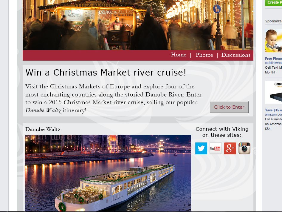Viking River Cruises Christmas Sweepstakes