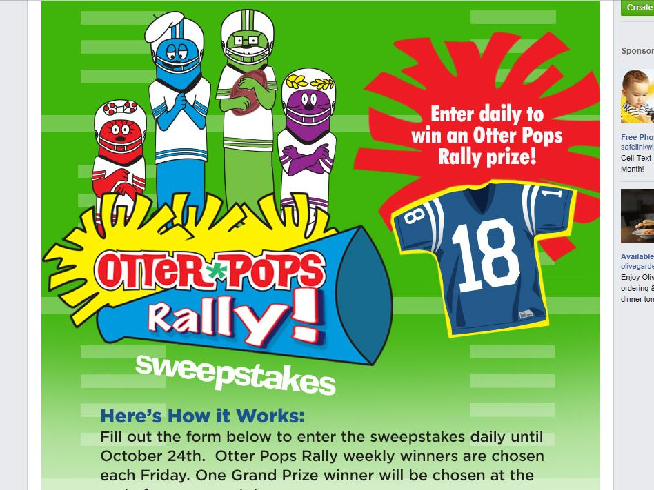 """The Otter Pops """"Rally"""" Sweepstakes"""